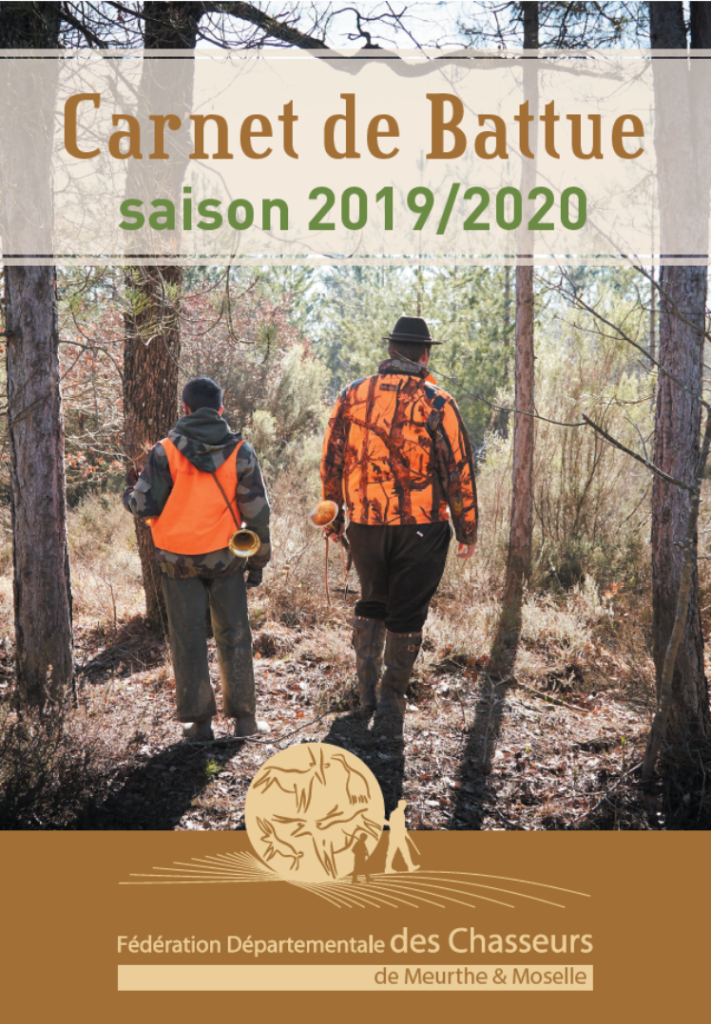DISTRIBUTION CARNETS DE BATTUE – AVENANT AU SDGC – NOTICE PRELEVEMENT PLANS DE CHASSE