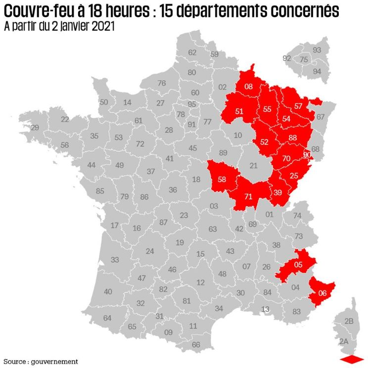 COUVRE-FEU A 18 HEURES
